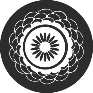 gobo bianco e nero motivi geometrici