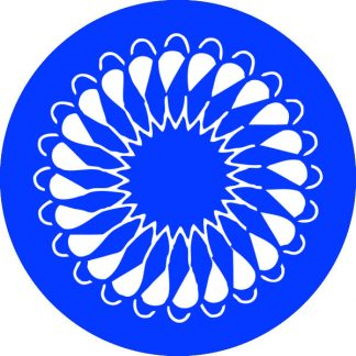 gobo 1 uno un colore motivi geometrici blu