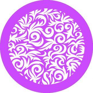 gobo 1 uno un colore motivi geometrici floreali viola
