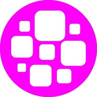 gobo bianco e nero motivi geometrici magenta rosa