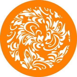 gobo 1 uno un colore motivi floreali arancione
