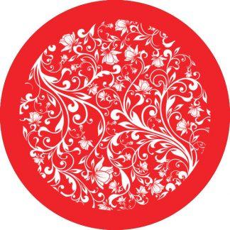 gobo 1 uno un colore motivi floreali rosso