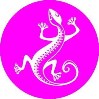 gobo 1 uno un colore animale geko magenta rosa