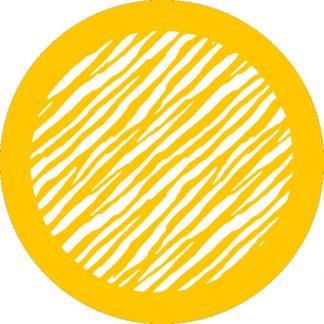 gobo 1 uno un colore animalier zebrato animale motivo giallo