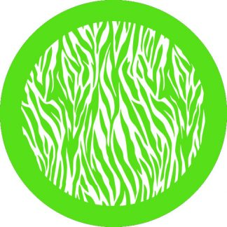 gobo 1 uno un colore animalier zebrato animale motivo verde
