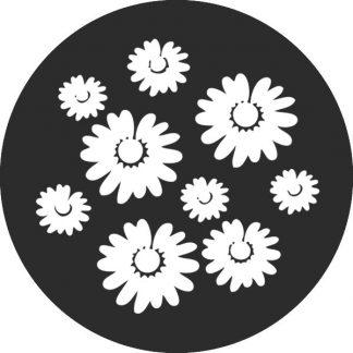 gobo bianco e nero fiori natura