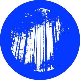gobo 1 uno un colore alberi foresta bosco natura blu