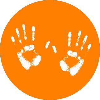 gobo 1 uno un colore impronta mani arancione