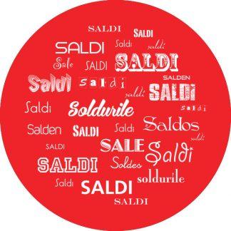 gobo 1 uno un colore saldi in tutte le lingue rosso