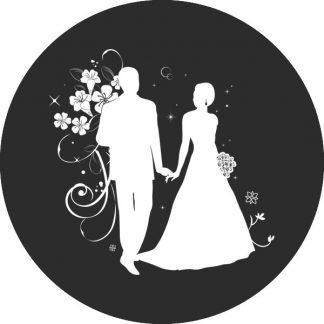 gobo bianco e nero matrimonio sposi sposo sposa fiori