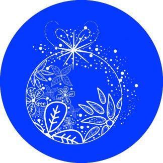 gobo 1 uno un colore palla pallina di natale blu