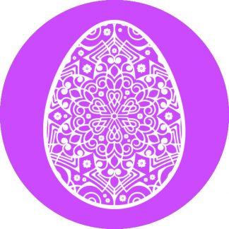 gobo 1 uno un colore uovo di pasqua pasquale viola