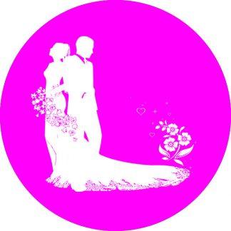 gobo 1 uno un colore matrimonio sposi sposo sposa fiori magenta rosa