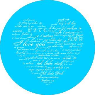 gobo 1 uno un colore cuore ti amo in tutte le lingue san valentino azzurro ciano