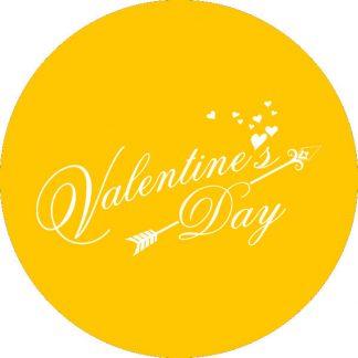 gobo 1 uno un colore san valentino giallo