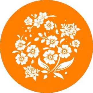 gobo 1 uno un colore motivi floreali fiori primavera arancione