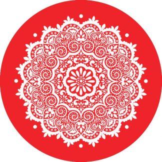 gobo 1 uno un colore motivi geometrici rosso