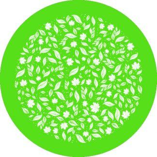 gobo 1 uno un colore foglie autunno verde