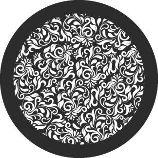 gobo bianco e nero motivi floreali