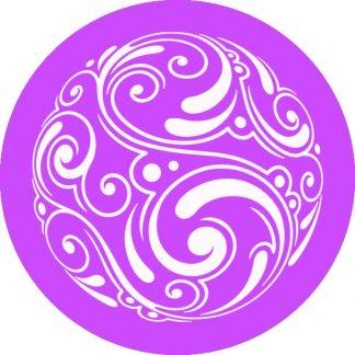 gobo 1 uno un colore motivi geometrici viola