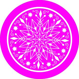 gobo 1 uno un colore fiocco di neve gobo natalizio magenta rosa