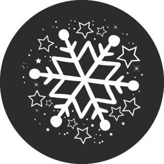 gobo bianco e nero fiocco di neve gobo natalizio