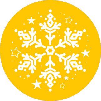 gobo 1 uno un colore fiocco di neve gobo natalizio giallo