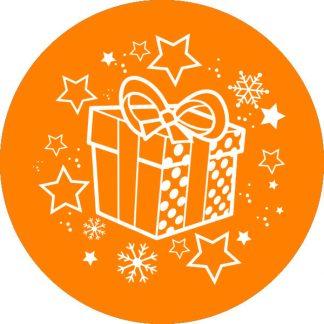 gobo 1 uno un colore fiocchi di neve stelle pacco regalo gobo natalizio arancione