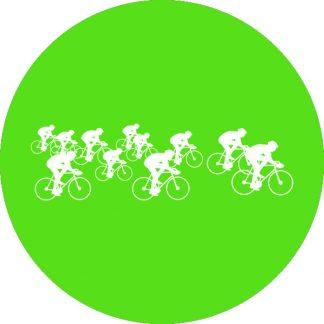 gobo 1 uno un colore ciclisti giro d'italia verde