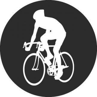 gobo bianco e nero ciclista giro d'italia