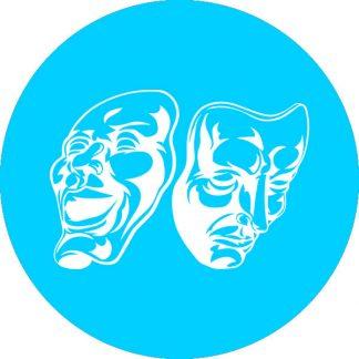 gobo 1 uno un colore maschere carnevale azzurro ciano