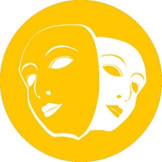 gobo 1 uno un colore maschere carnevale giallo
