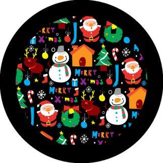 gobo quattro colori tema natalizio natale pupazzi di neve renne babbo natale