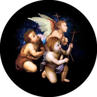 gobo quattro colori tema natalizio natale angeli putti angioletti