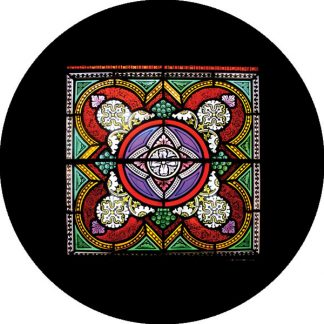 gobo quattro colori vetrata chiesa motivi geometrici