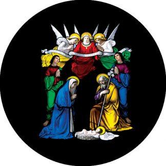 gobo quattro colori tema natalizio natale angeli scena della natività