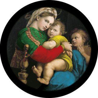gobo quattro colori natività madonna con bambino vergine Maria tema natalizio natale