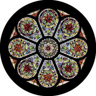 gobo quattro colori chiesa finestre tema religioso rosone