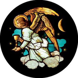 gobo quattro colori vetro rosone chiesa angelo motivo religioso