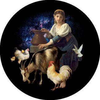 gobo quattro colori tema natalizio contadinella contadina melograno natale animali
