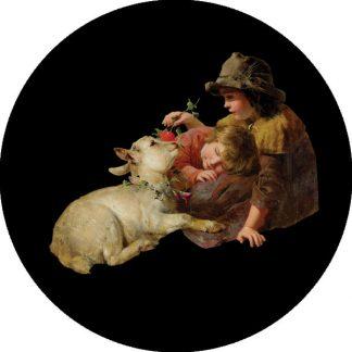 gobo quattro colori bambine tema natalizio contadinelle natale