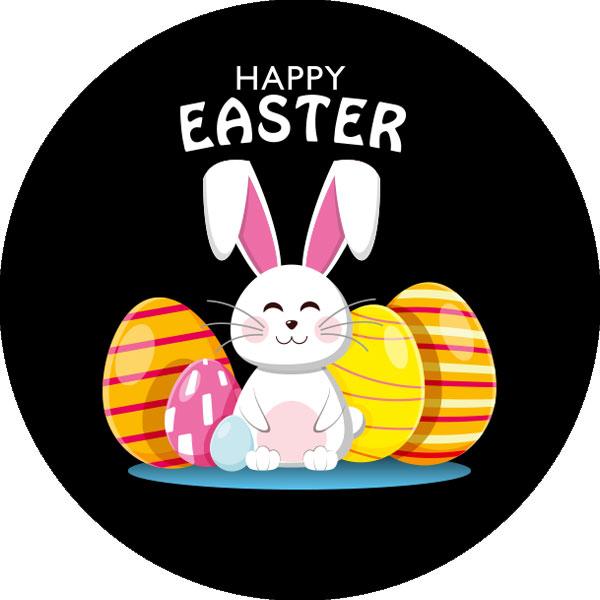 gobo quattro colori buona pasqua uovo di pasqua colorato coniglio coniglietto