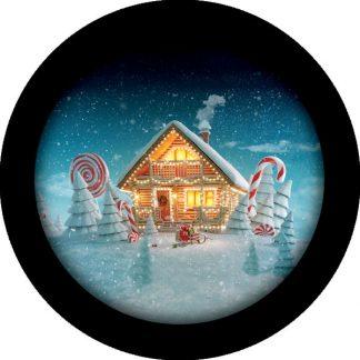 gobo quattro colori casetta di marzapane natale tema natalizio foresta innevata neve