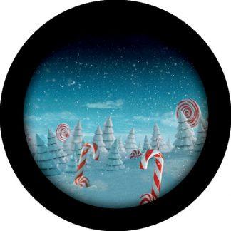 gobo quattro colori natale tema natalizio foresta innevata neve
