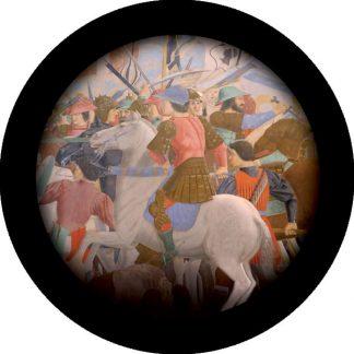 gobo quattro colori tema medievale cavaliere cavallo