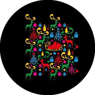 gobo quattro colori grafica natalizia natale tema natalizio slitta di babbo natale renne