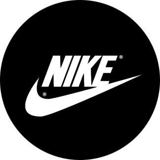 gobo personalizzato bianco e nero logo nike