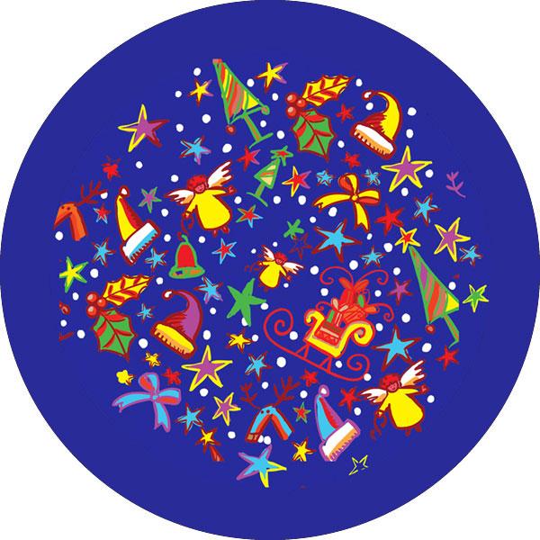 gobo tre colori pattern tema natalizio decorazioni natalizie babbo natale fiocchi di neve stelle