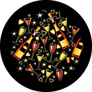 gobo tre colori festa festeggiamento bicchieri vino congratulazioni capodanno