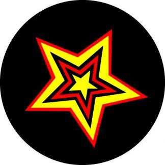 gobo tre colori stella rosso giallo motivi geometrici